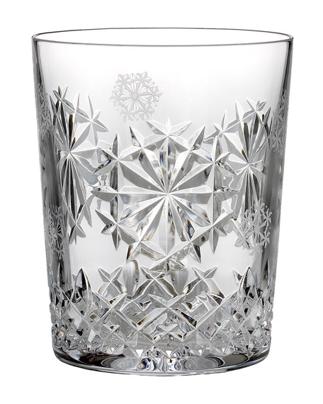 Snowflake Wishes Happiness Double Old-Fashioned, Clear