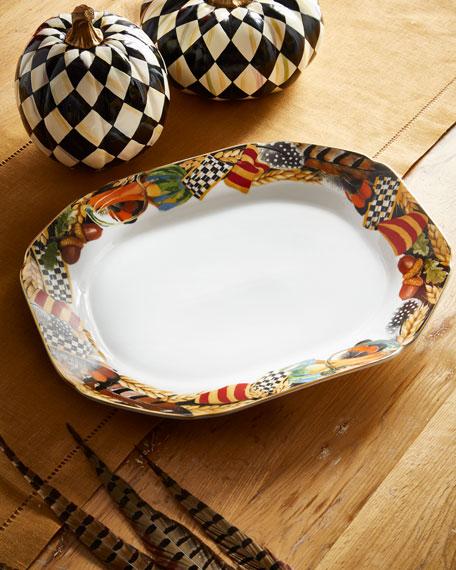 MacKenzie-Childs Pheasant Run Small Platter