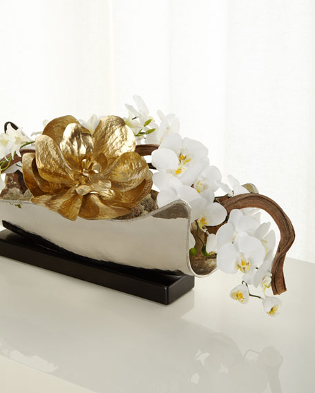 Silver & Gold Floral Arrangement