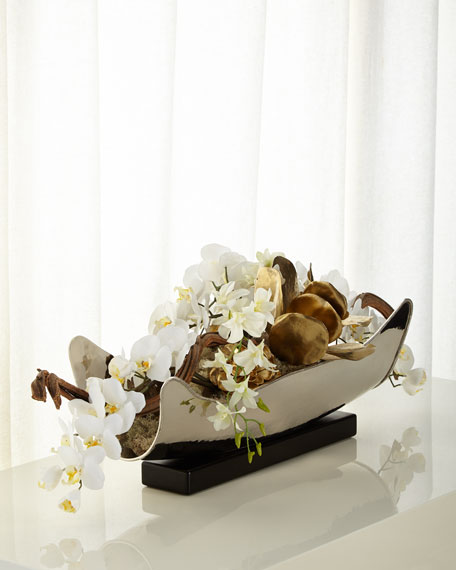 John-Richard Collection Silver & Gold Floral Arrangement