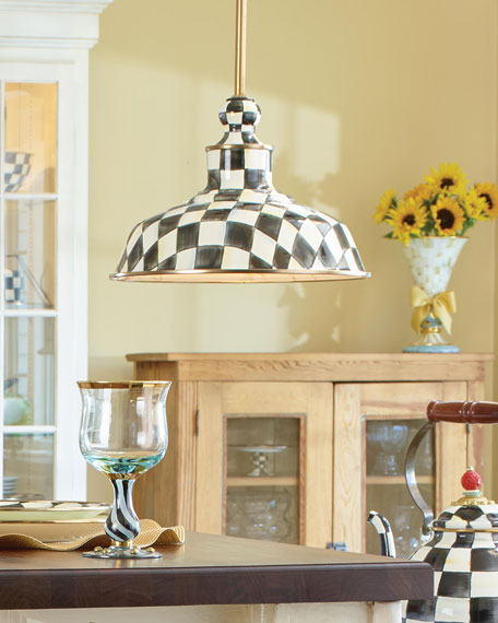 """Courtly Check Barn Pendant Lamp, 12"""""""