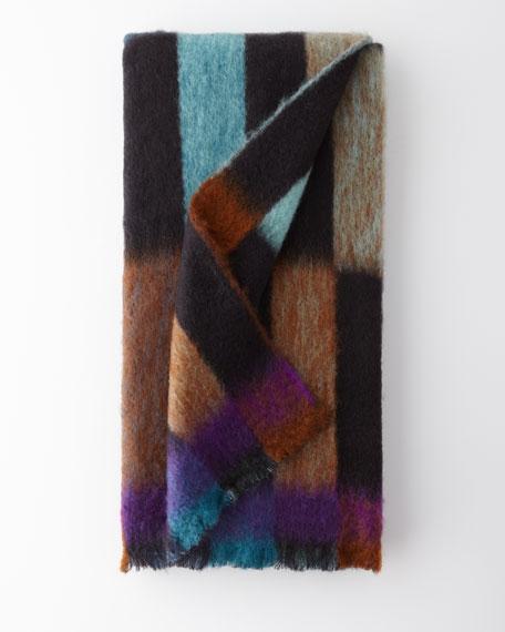 Domino Mohair-Blend Throw Blanket