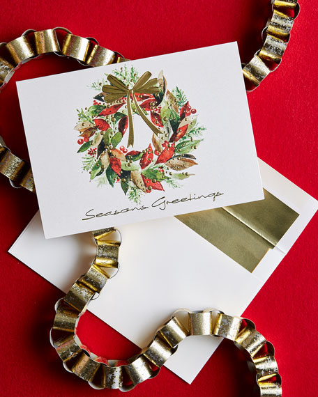 Carlson Craft Christmas Wreath Cards, Personalized