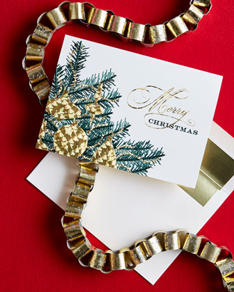 Merry Christmas Tree Cards, Personalized