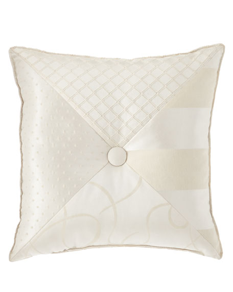"Leisure Pieced Pillow, 18""Sq."