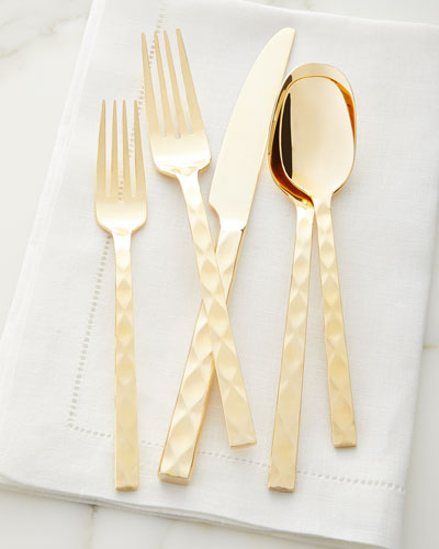 20-Piece Epigram Gold Flatware Set