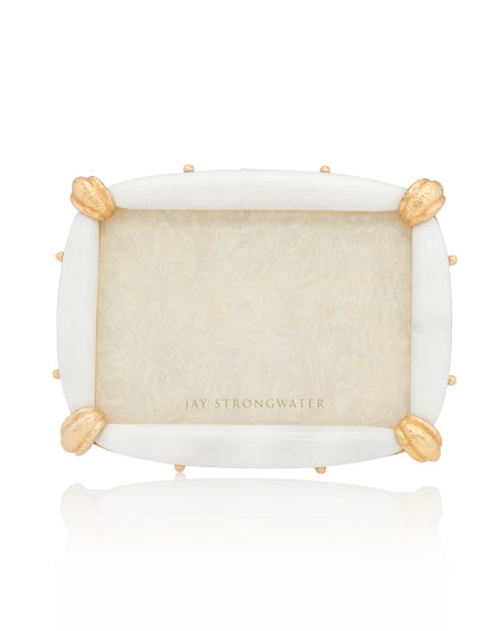 "White Marble Picture Frame, 5"" x 7"""