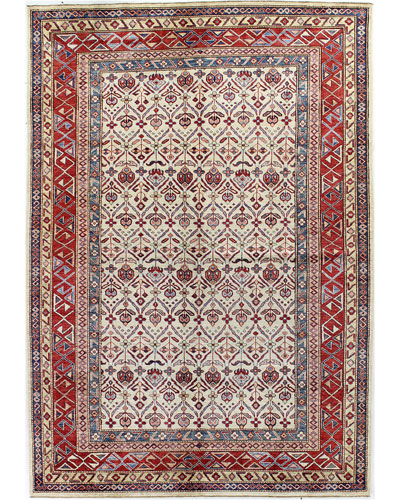 Linnett One-of-a-Kind Hand-Knotted Rug, 6.2' x 8.6'