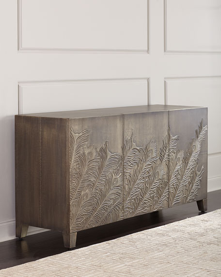 Peacock Feather Entertainment Console