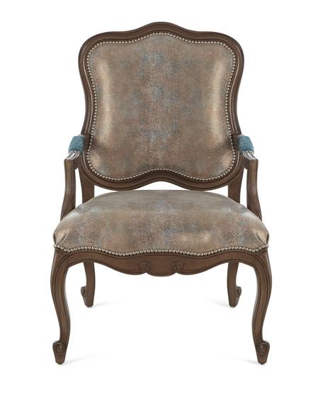 Opal Shimmer Bergere Chair