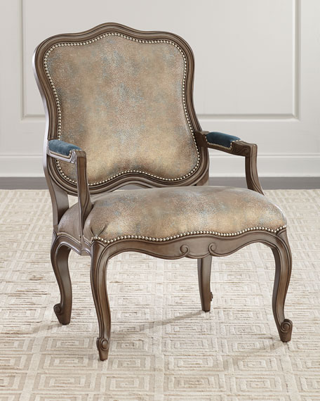 Massoud Opal Shimmer Bergere Chair