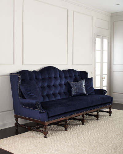 Madrid Tufted Velvet Sofa 103