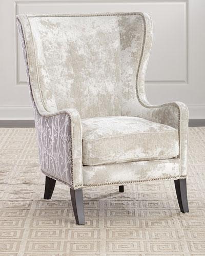 Shimmer Branch Wing Chair