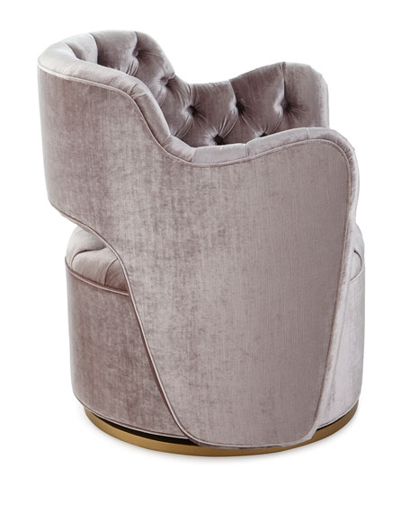 Tatiana Tufted Velvet Swivel Chair
