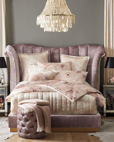 Moira Channel Tufted California King Bed