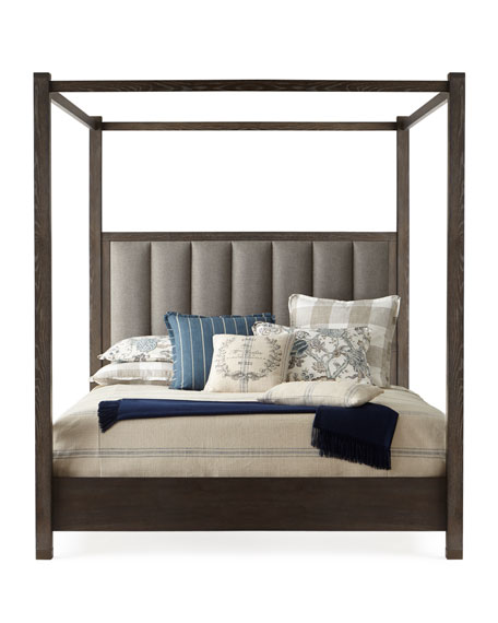 Liesel Tufted Queen Canopy Bed