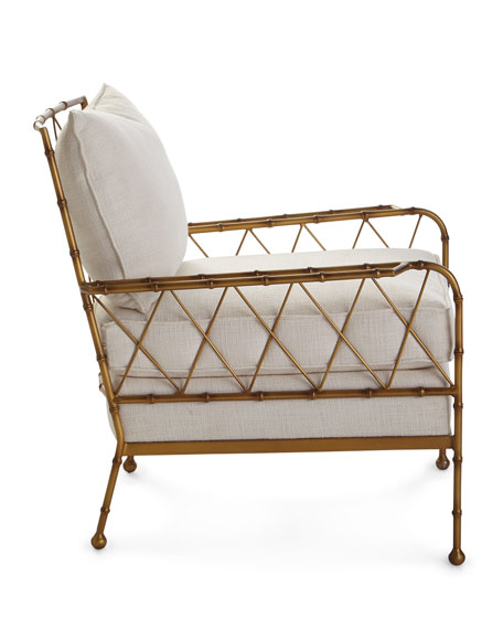 Aracy Gold Bamboo Style Lounge Chair