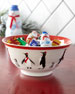 Sara Miller Red Penguins Holiday Bowls, Set of 4