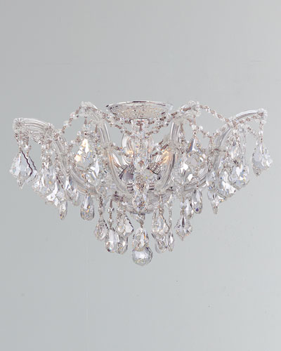 Maria Theresa Hand-Cut 5-Light Clear Crystal Semi Flush