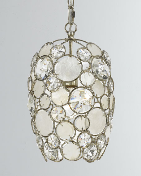 Palla 1-Light Antiqued Silver Mini Chandelier