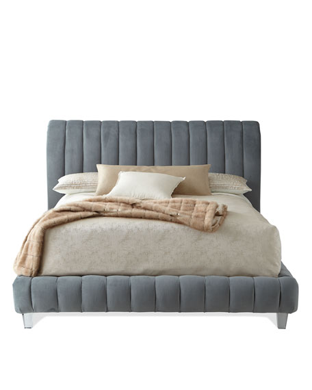 Amal Channel-Tufted California King Platform Bed
