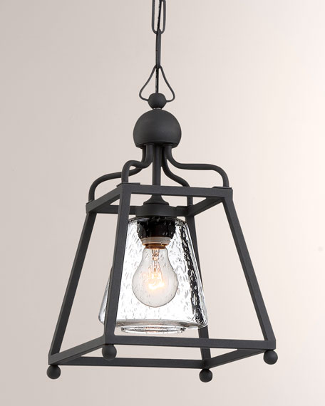 Crystorama Libby Langdon Sylvan 1-Light Black Forged Outdoor