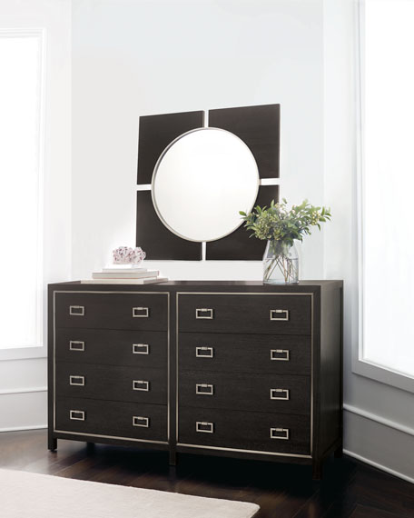 Decorage 4-Panel Round Mirror