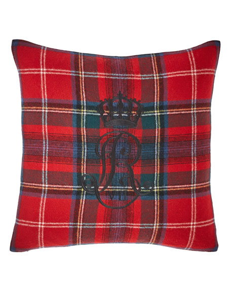 Ralph Lauren Home Leinster Embroidery Decorative Pillow