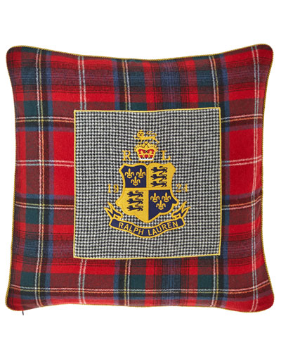 Queensbury Crest Decorative Pillow