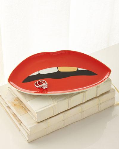 Lip-Shaped Tray