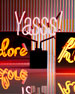 """Hustle"" Acrylic Box Neon Sign"