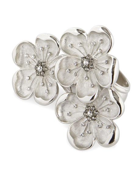 Nomi K Flower Trio Napkin Ring, Set of