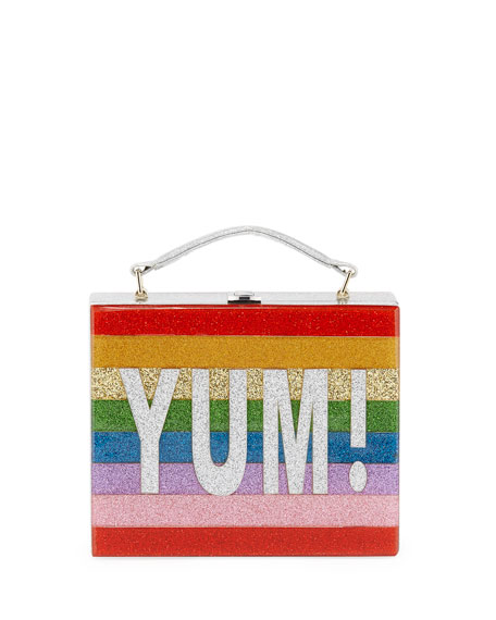 Yum Rainbow Acrylic Lunch Box