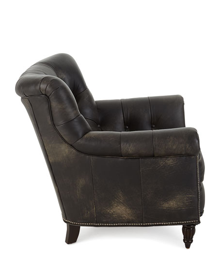 Remarkable Beckham Tufted Leather Chair Pdpeps Interior Chair Design Pdpepsorg