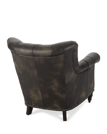 Beckham Tufted Leather Chair