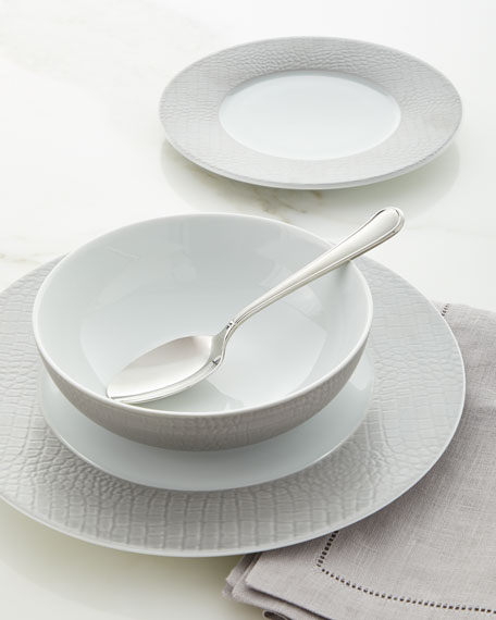 Neiman Marcus Crocodile Metallic Dinnerware Set
