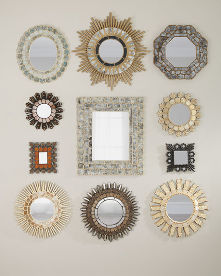 Carved Melgar Mirrors, Set of 11