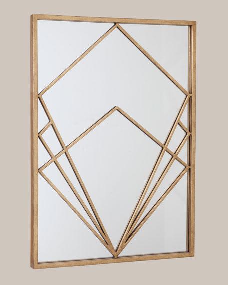 Gold Geo Mirror