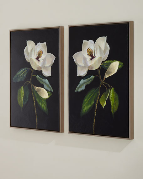 """Magnolias"" Giclee Wall Art, Set of 2"