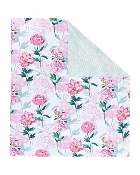 Leonie 200 Thread-Count Floral Queen Duvet Cover