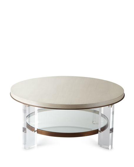 Malone Acrylic-Leg Coffee Table