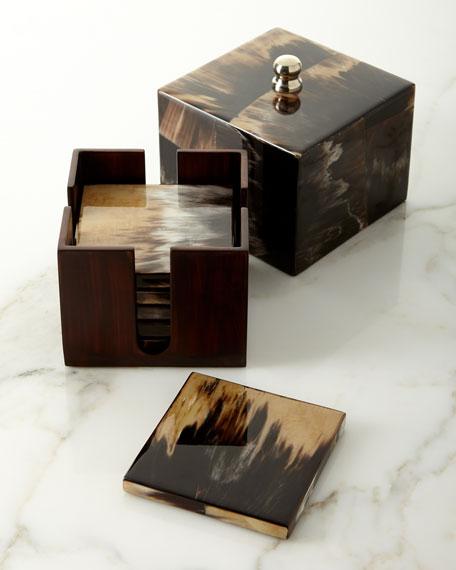 LADORADA Horn Luxe Boxed Coaster Set