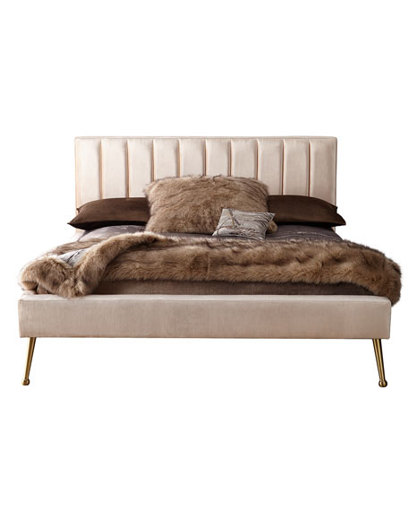 DeAngelo King Platform Bed with Metal Legs