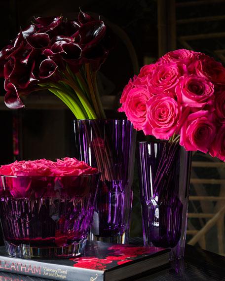 "Jeff Leatham Icon Vase, 12""T"
