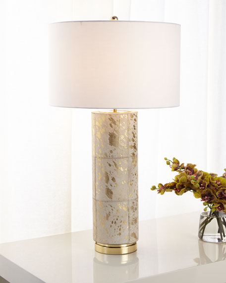 Hair on Hide Table Lamp