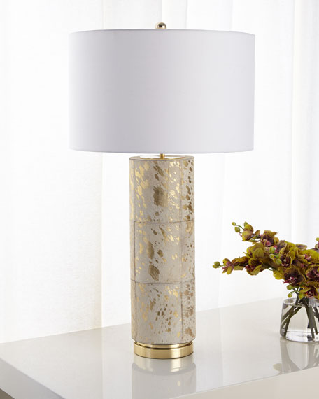 John-Richard Collection Hair on Hide Table Lamp