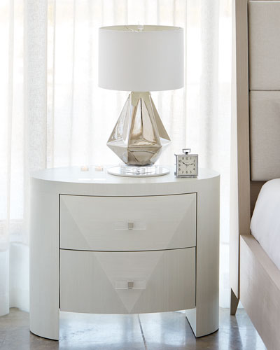 Axiom Oval 2-Drawer Nightstand