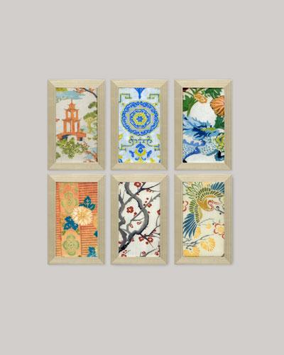 Asian Fragments Prints by Liz Jardine  Set of Six