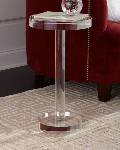 Round Crystal Martini Table