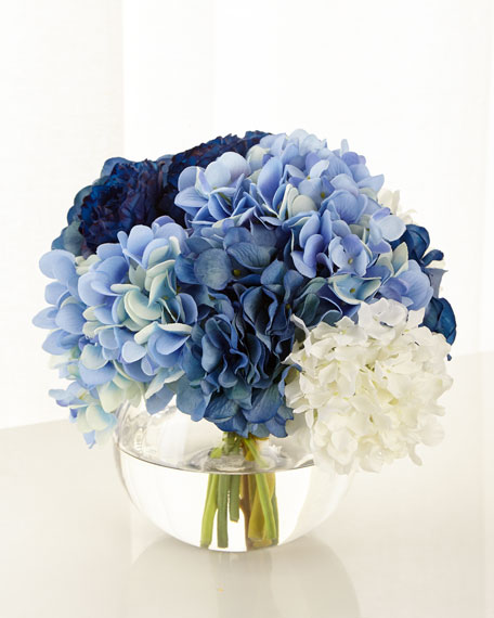 John-Richard Collection Baby Blue Floral Arrangement